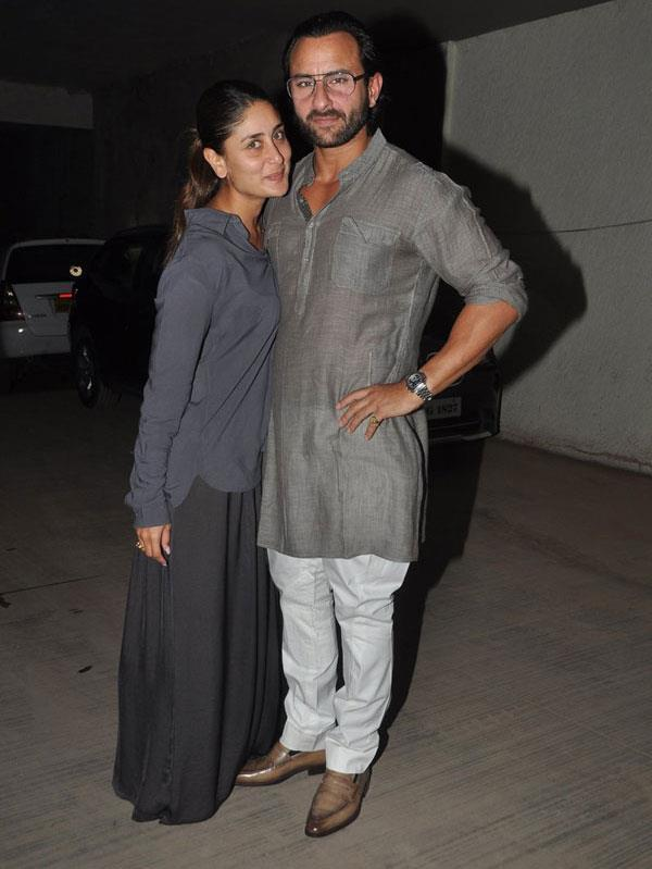 Kareena Gets Cozy With Hubby Saif During The Special Screening Of Go Goa Gone Movie