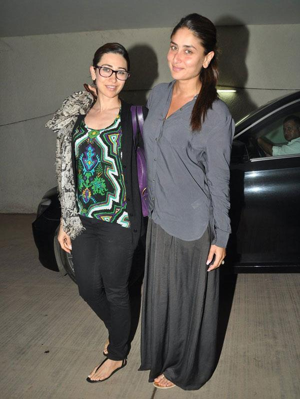 Karisma Posed With Sister Kareena At The Special Screening Of Go Goa Gone Movie