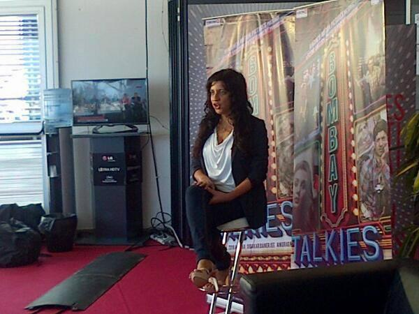 Zoya Akhtar Pose For Photo At Press Conference Of Bombay Talkies at Cannes