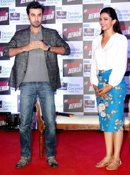 Ranbir And Deepika Promoted Their Upcoming Dharma Flick, YJHD At A Parachute Press Conference