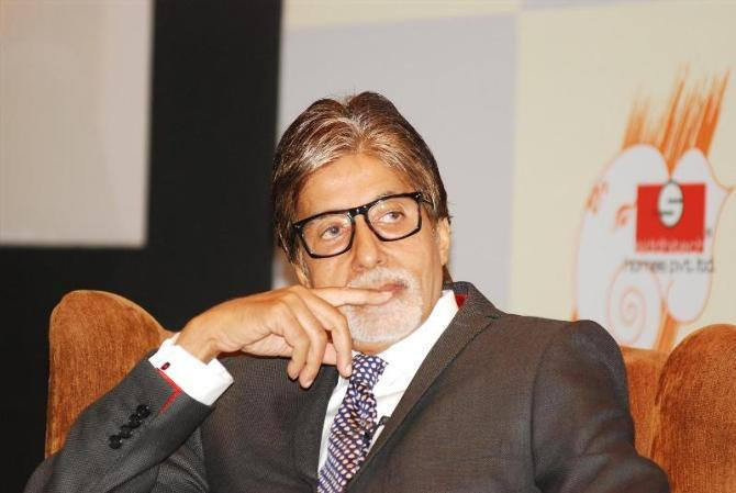 Amitabh Bachchan During The Press Conference Of Great Gatsby
