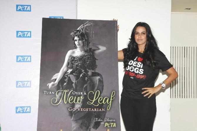 Neha Dhupia Attended The Launch Of PETA's Newest Pro-Veg Ad Campaign In Mumbai