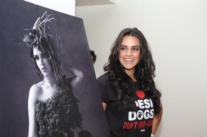 Neha Dhupia Launced A Brand New Pro Veg Ad Campaign In Association With PETA