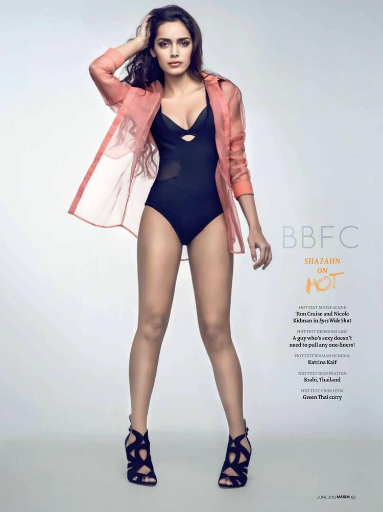 Shazahn Padamsee Spicy Hot Look Photo Shoot For Maxim India Magazine June 2013