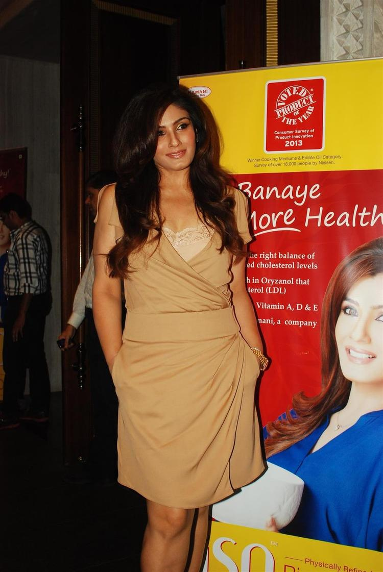 Raveena Tandon Glamour Look At Riso Rice Bran Oil Launch Event