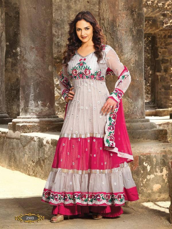Esha Deol Strikes A Pose In Beautiful Frock Style Anarkali Dress