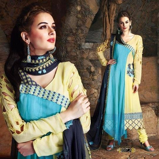 Evelyn Sharma Wore A New Style Salwar Kameez For An Indian Designer Wear