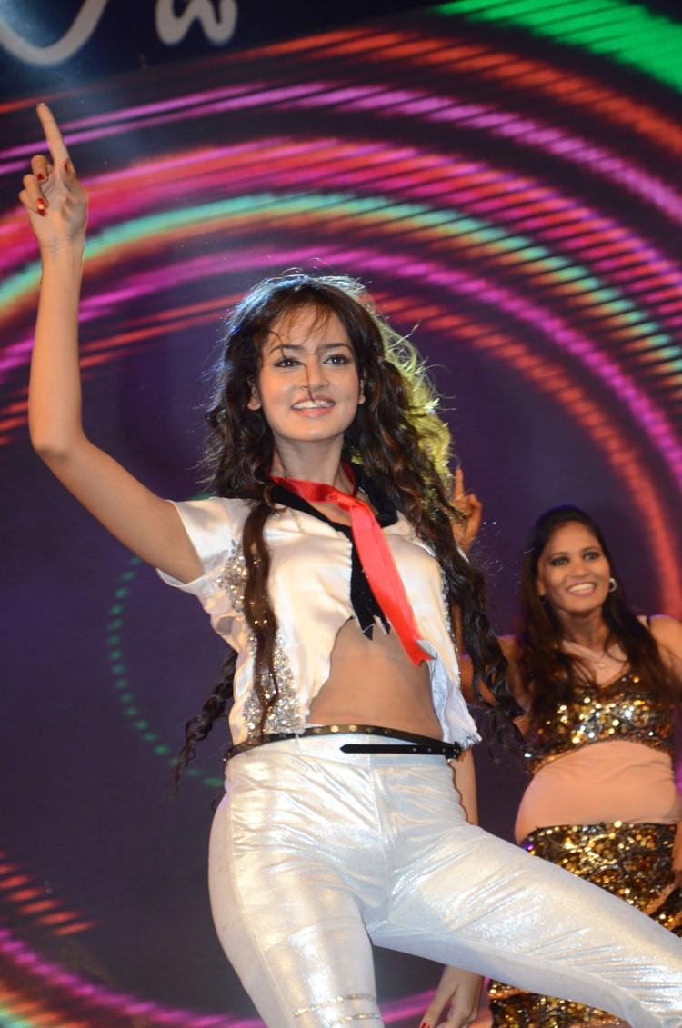 Shanvi Sexy Dance Performance At Adda Movie Audio Launch Function