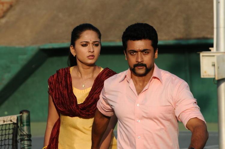 Anushka And Suriya A Still From Singam II Movie