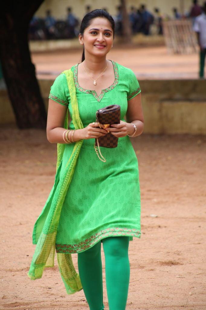 Anushka Shetty In Green Chudidar Glamour Trendy Look Still From Singam II Movie