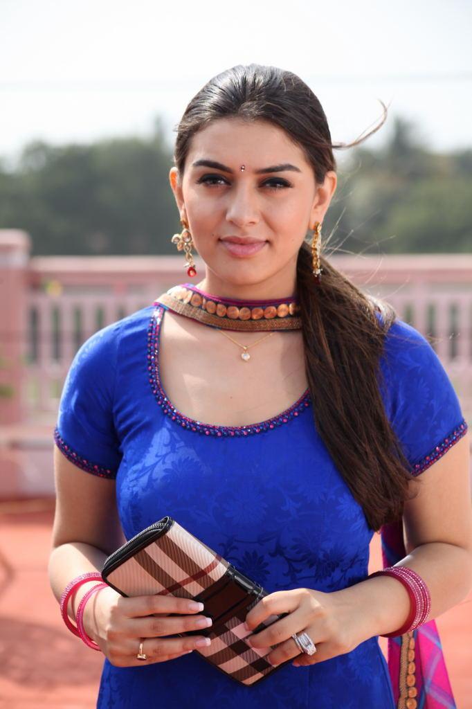 Hansika Motwani In Blue Dress Exclusive Look Still From Singam II Movie