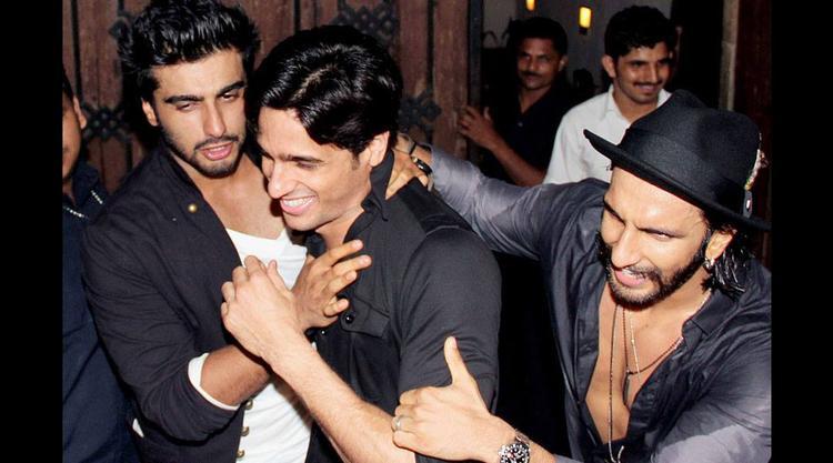 Arjun,Sidharth And Ranveer Cool At Arjun Kapoor Birthday Bash