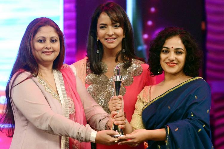 Jayasudha, Lakshmi Manchu And Nithya Menon At Maa Tv Awards 2013