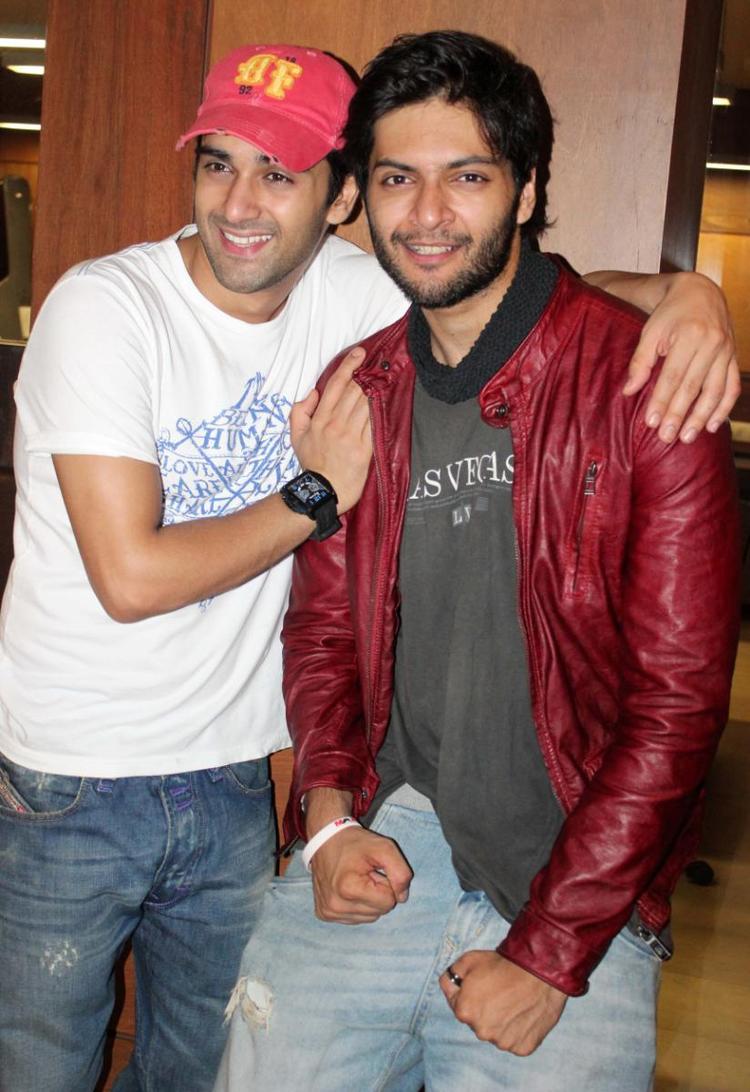 Ali Fazal And Pulkit Samrat Nice Pic During The Fukrey Movie Success Bash