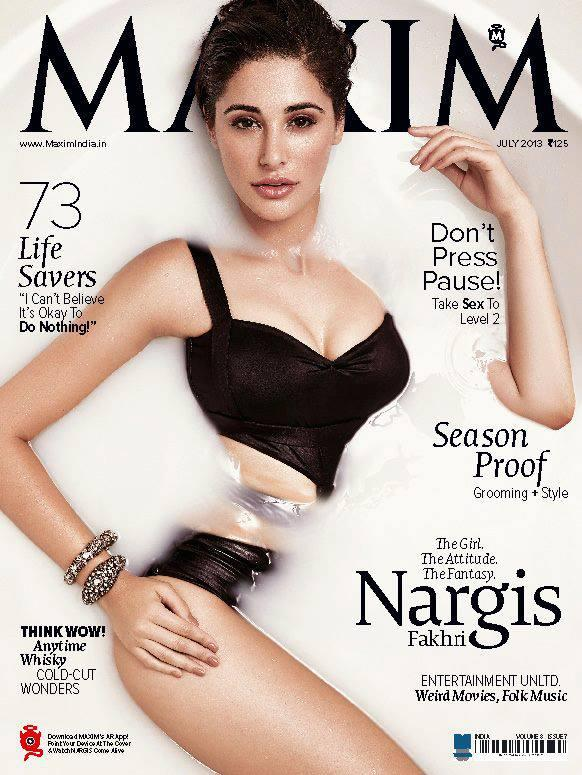 Hot Sexy Nargis Fakhri Sizzles On The Cover Of Maxim Magazine July 2013