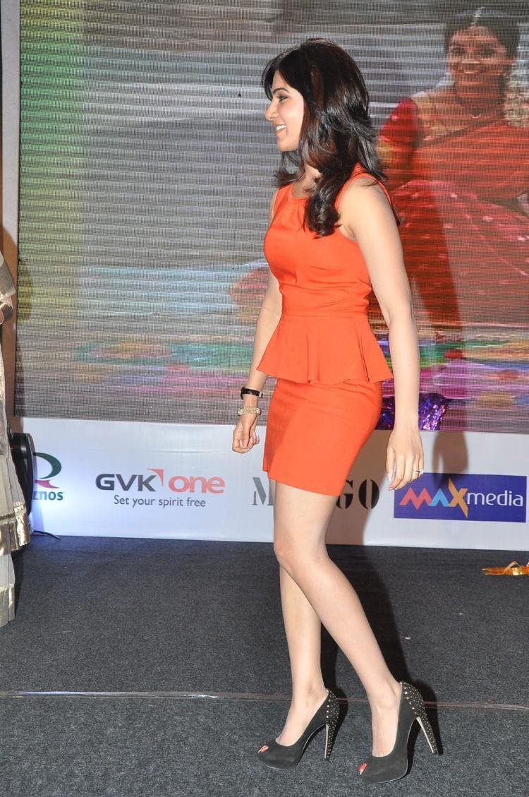 Samantha Arrives To Attend The Bangaru Kodipetta Movie Audio Launch Function