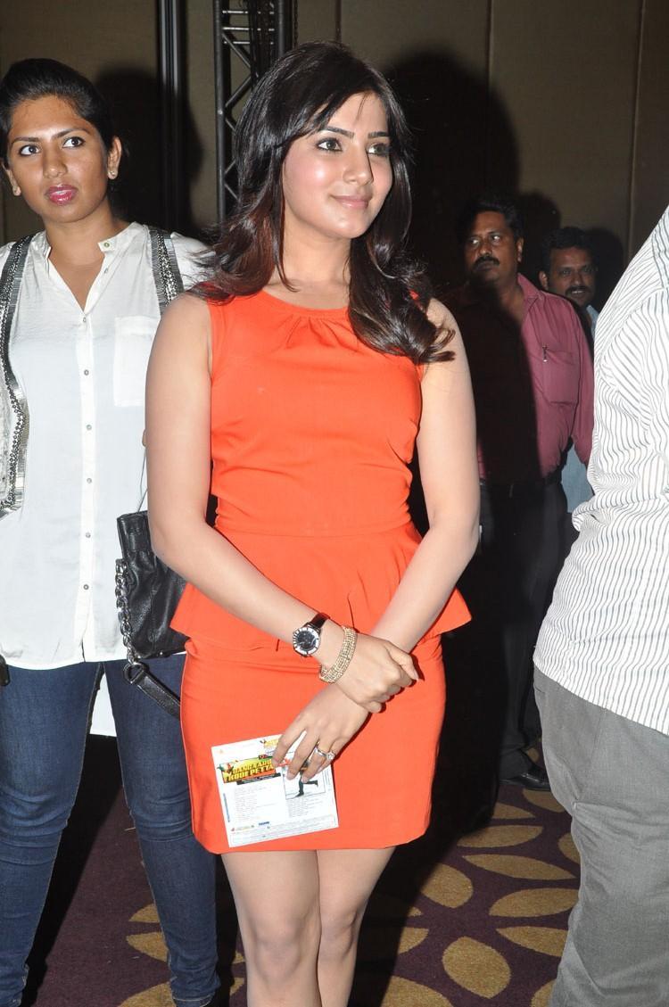 Samantha Strikes A Pose At Bangaru Kodipetta Movie Audio Launch Function