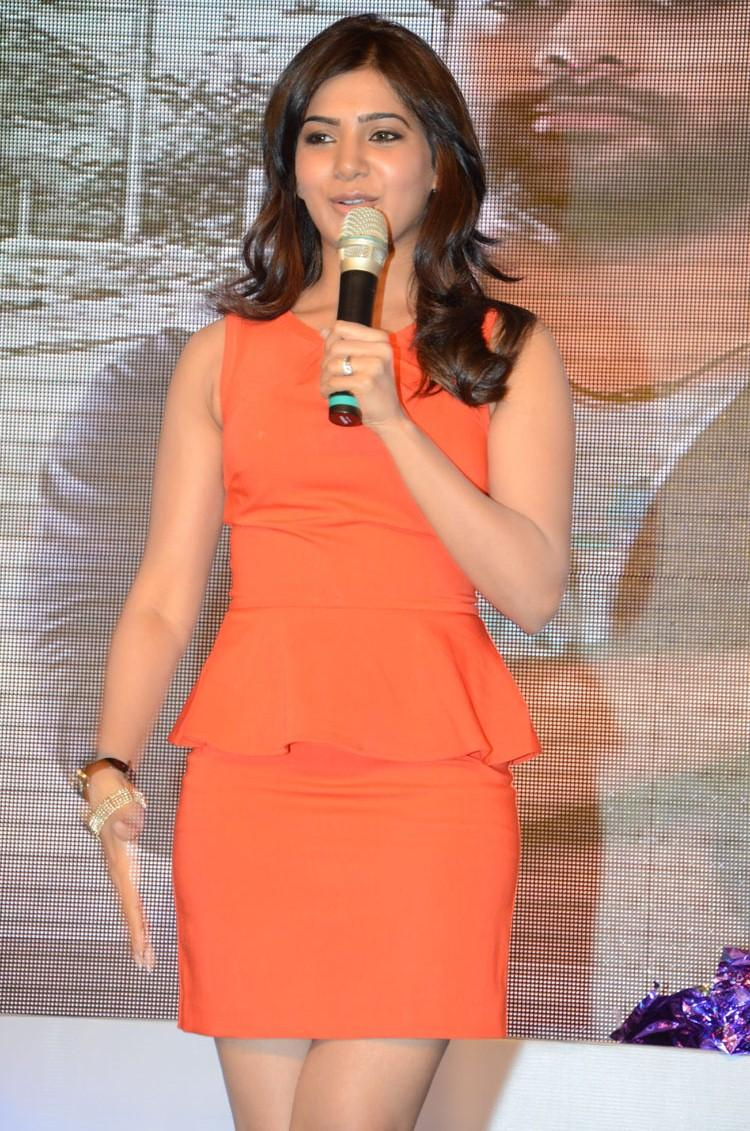 Telugu Actress Samantha During The Bangaru Kodipetta Movie Audio Launch Function
