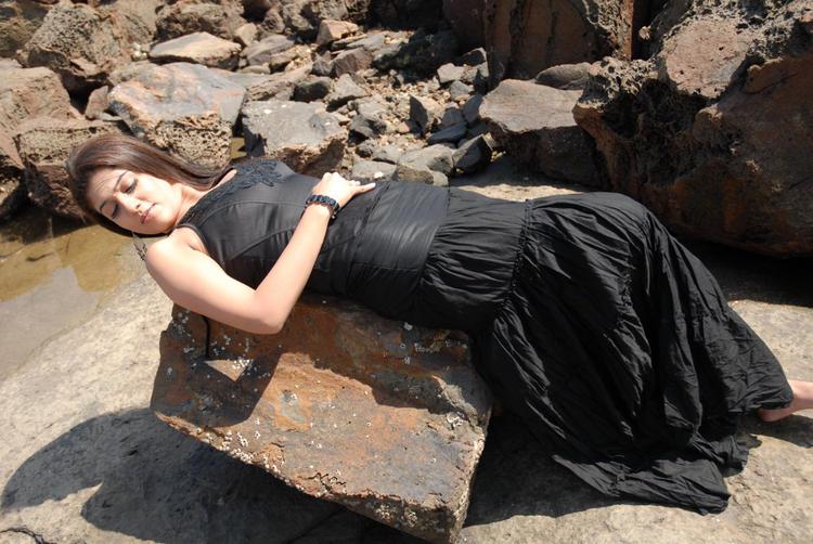 Nayanthara In Black Dress Drop Dead Look Sexy Still