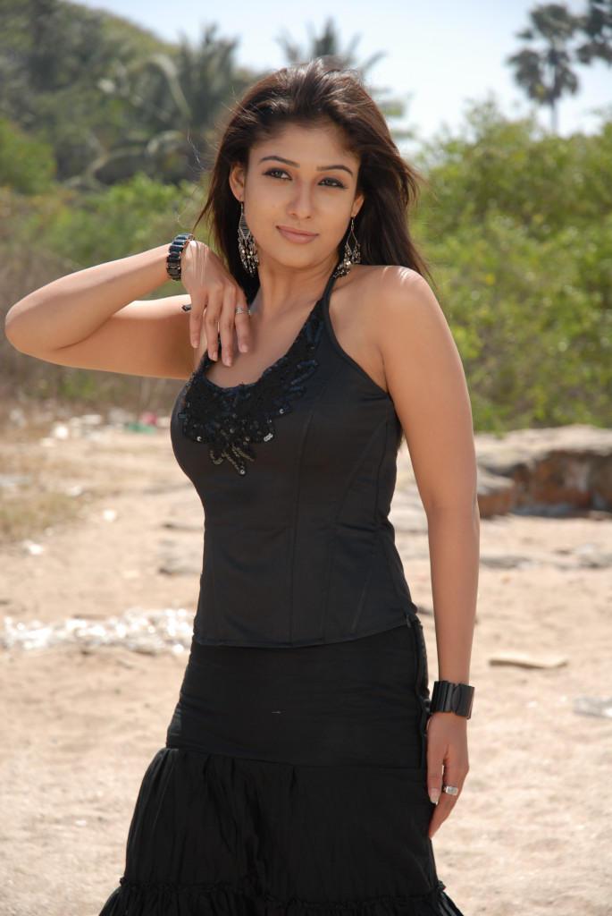 Nayanthara In Black Dress Trendy Look Photo Still