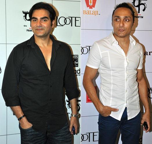 Arbaaz Khan And Rahul Bose Snapped At The Lootera Party