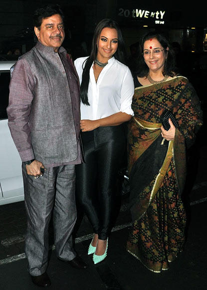The Sinhas Arrive Spotted At Lootera Success Bash