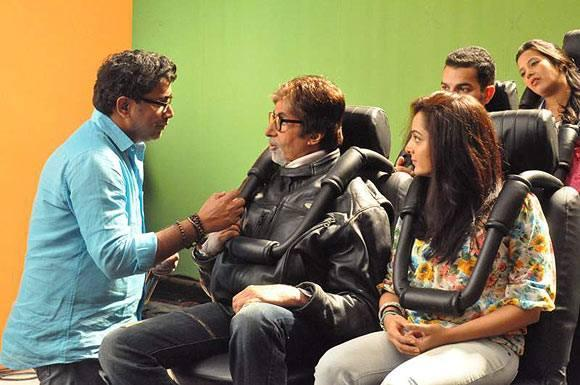 Amitabh And Manju Kalyan Jewellers Shooting Set Still