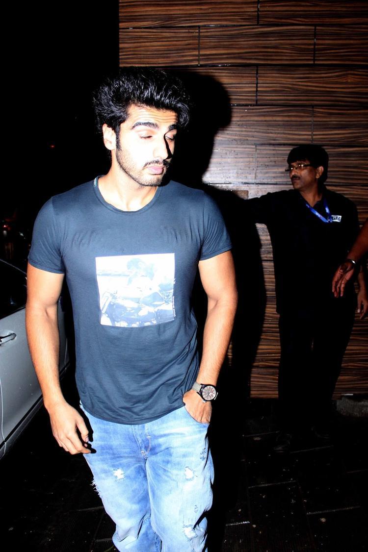 Arjun Kapoor Snapped At Sanjay's Birthday Bash