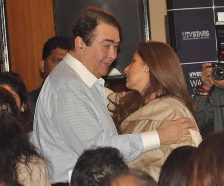 Randhir Kapoor Meet With Dimple At The Statue Launch Event Of Rajesh Khanna