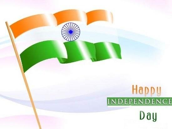 Tricolor Flag Happy Independence Day Greetings