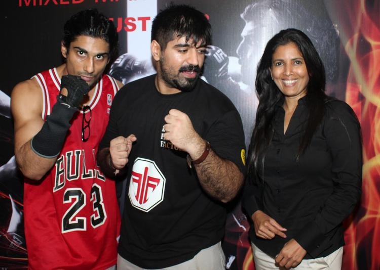 Prateik Cool Pose At Gold Gym's Mixed Martial Arts Launch Event