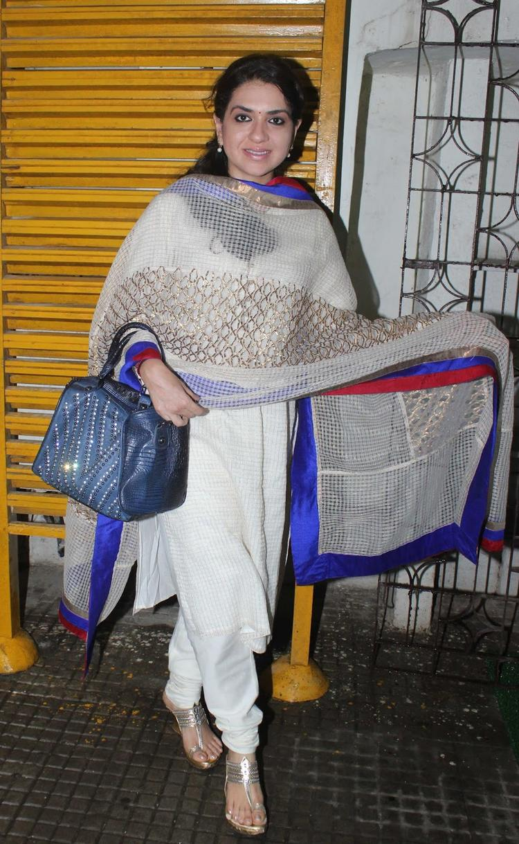 Shaina NC Spotted At Special Screening Of OUATIMD