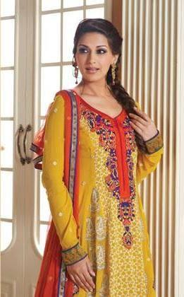 Sonali Bendre In Indian Designer Yellow Dress Ravishing Look Photo Still
