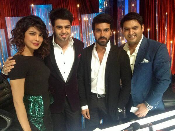 Priyanka,Manish,Ram Charan And Kapil Clicked During The Promotion Of Zanjeer On The Sets Of Jhalak Dikhhla Jaa 6
