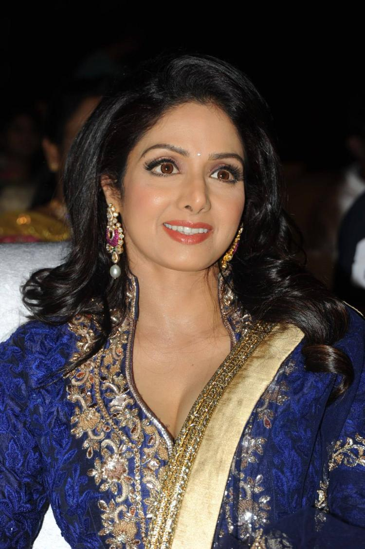 Sridevi Kapoor Extravagant Look At Tollywood Cinema Channel Launch Event