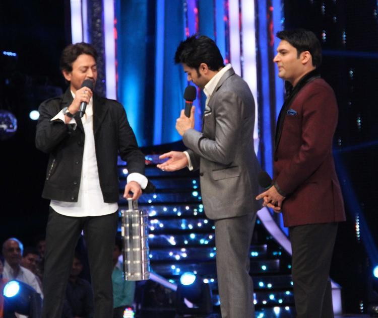 Irrfan Khan,Kapil And Manish Fun Still At Jhalak Dikhhla Jaa Season 6