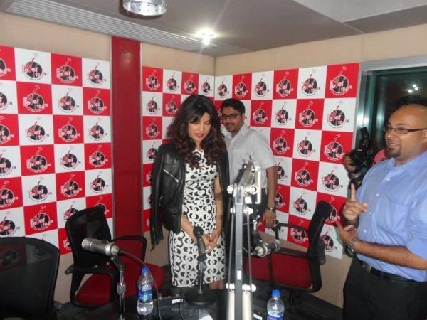 Priyanka Chopra Promotes Zanjeer At Fever 104 FM Radio Station