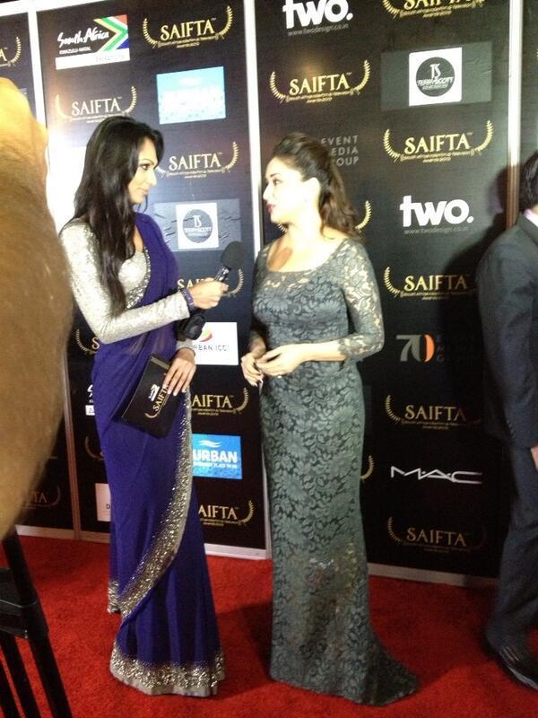 Madhuri Dixit On Red Carpet At The SAIFTA Awards 2013 In Durban
