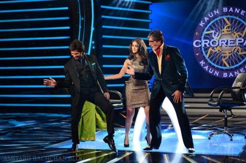 Shahid,Ileana Shake Their Legs With Big B On The Sets Of KBC Show During The Promotion Of PPNH