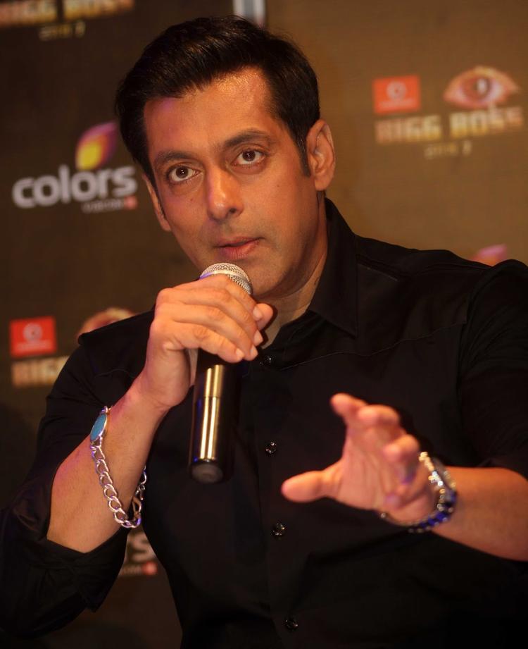 Salman Khan Addresses The Audience At Bigg Boss 7 Press Launch Event