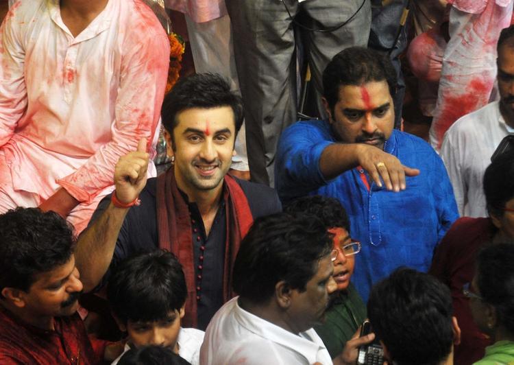 Ranbir And Shankar Nice Look At Lalbaugcha Raja Ganpati Pandal