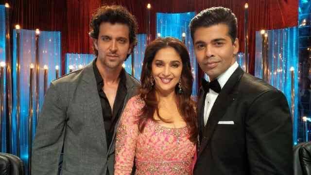 Hrithik Sharing The Stage With Madhuri and  Karan Johar For Jhalak Dikhhla Jaa Final
