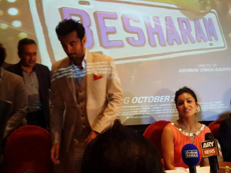 Ranbir And Pallavi Attend The Press Conference During The Promotion Of Besharam In Dubai