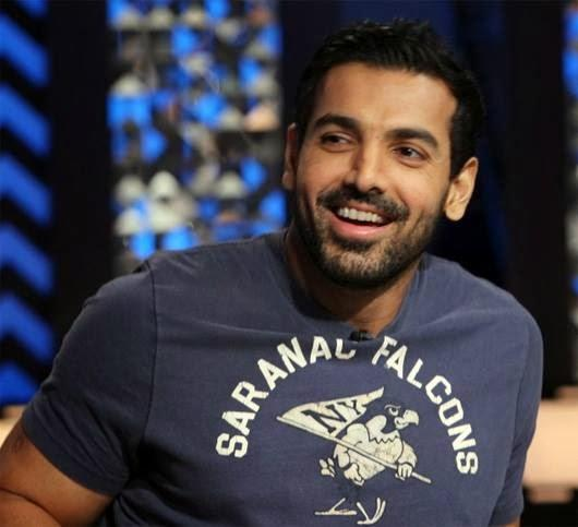 John Abraham Smiling Pic During The Front Row With Anupama Chopra