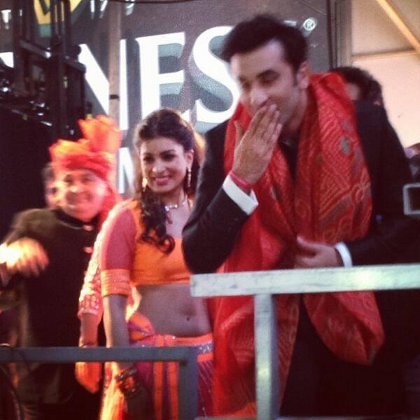 Ranbir Gave Flying Kiss To The Fans And Pallavi Looks On At Times Square In New York