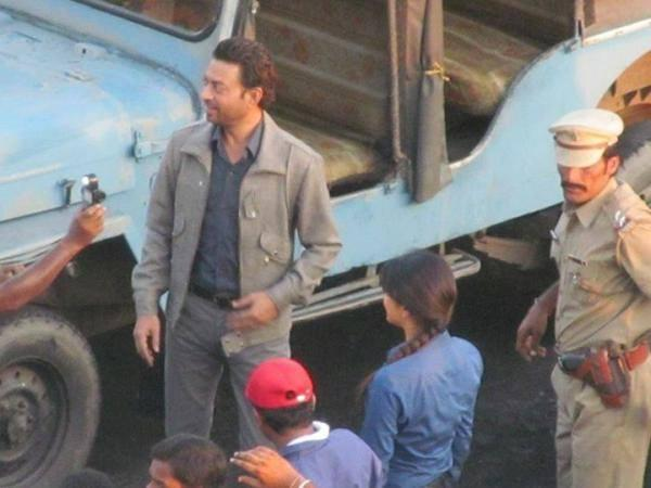 Irrfan Khan Cool Look On The Sets Of Gunday