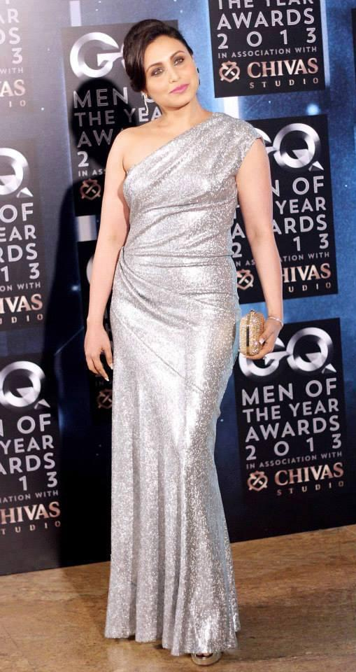 Rani Mukerji Dazzled In Silver Color At GQ Men Of The Year Awards 2013