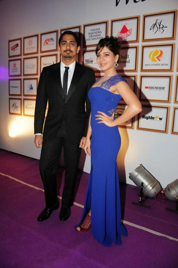Samantha And Siddharth At Food For Change Charity Event