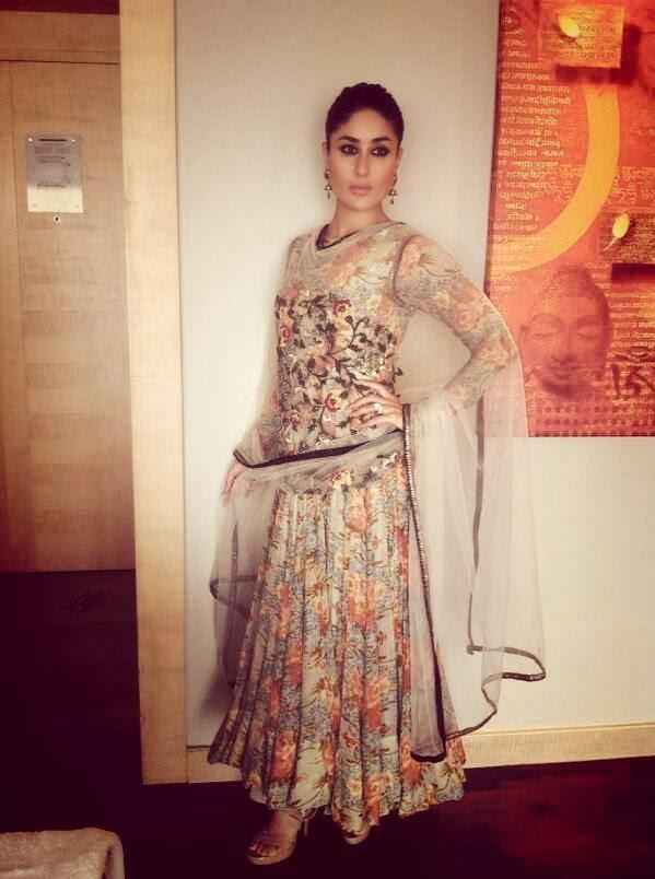 Kareena Kapoor In A Floral Anarkali Designer Outfit Looked Magnificent