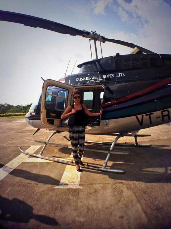 Priyanka Chopra Posed Near Helicopter During The Promotion Of Krrish 3 Movie